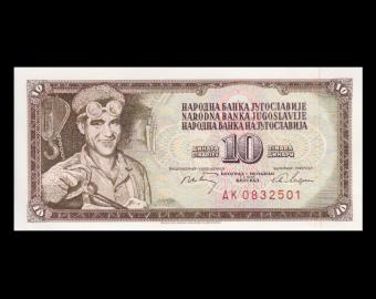Yougoslavie, P-082c, 10 dinara, 1968