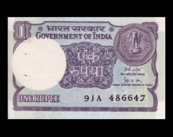 Inde, P-78Ad, 1 roupie, 1989