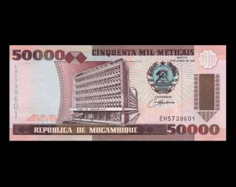 Mozambique, P-138, 50000 meticais, 1993