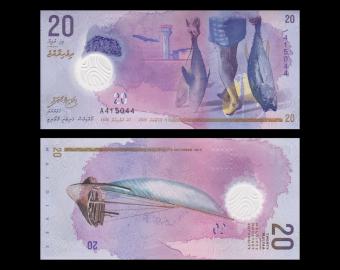 Maldives, P-27, 20 rufiyaa, 2015