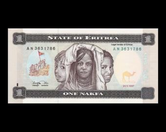 Erythrée, P-1, 1 nakfa, 1997
