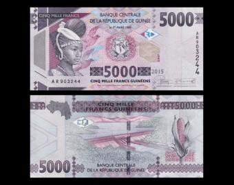 Guinea, P-48, 5000 francs, 2015