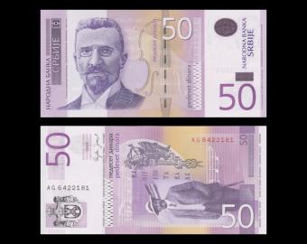 Serbie, P-40, 50 dinara, 2005
