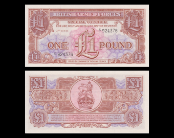 British Armed Forces, 1 pound, 1956
