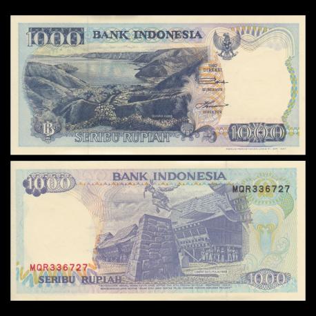 Indonesia, P-129f, 1000 rupiah, 1997