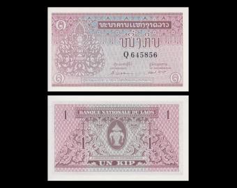 Laos, P-08a1, 1 kip, 1962