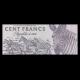 Rwanda, P-19, 100 francs, 1989