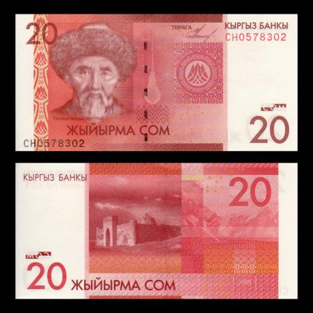 Kyrgyzstan, P-24, 20 som, 2009