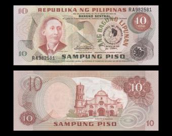 Philippines, p-167, 10 piso, 1981