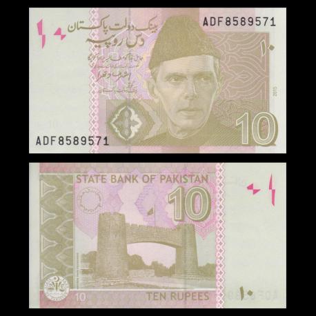 Pakistan, P-54i, 10 roupies, 2015