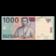 Indonésie, 1000 rupiah, 2009, recto