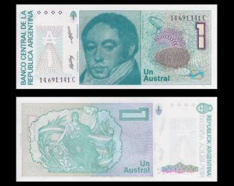 Argentina, p-323b ,1 austral, 1989