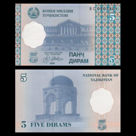 Tadjikistan, 5 diram