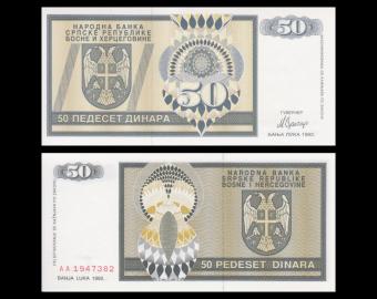 Bosnia and Herzegovina, p-134, 50 dinara, 1992
