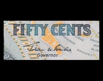Bahamas, p-68, 50 cents, 2001