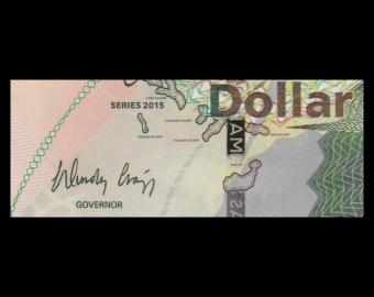 Bahamas, p-71A, 1 dollar, 2015