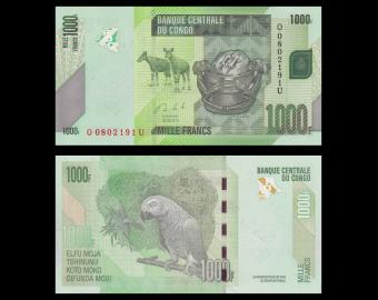 Congo, P-101b, 1000 francs, 2013