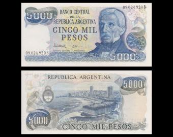 Argentine, P-305b1, 5000 pesos, 1977-83