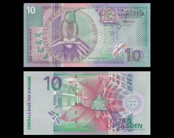 Suriname, P-147, 10 gulden, 2000