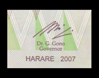 Zimbabwe, P-066, 5 dollars, 2007