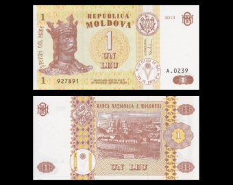 Moldavie, P-08i, 1 leu, 2013
