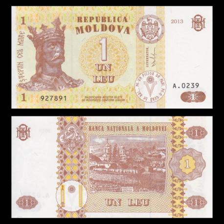 Moldova, P-08i, 1 leu, 2013