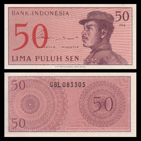 Indonesia, P-094, 50 sen, 1964