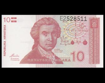 Croatie, P-18, 10 dinara, 1991