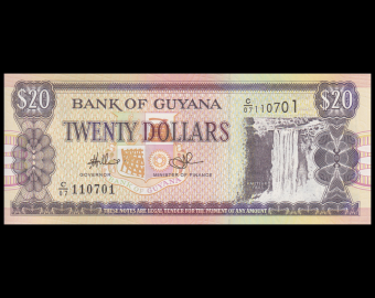 Guyana, P-30e, 20 dollars, 2009