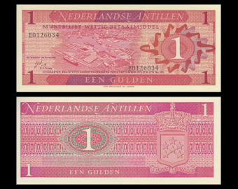 Netherlands Antilles, P-20, 1 gulden, 1970