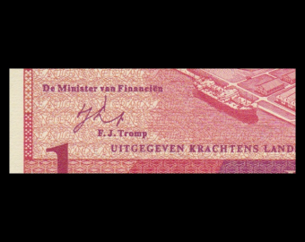 Netherlands Antilles, P-20, 1 gulden, 1970