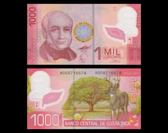 Costa Rica, P-274, 1000 colones, polymer, 2009
