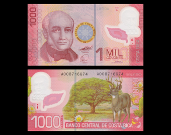 Costa Rica, P-274, 1000 colones, polymère, 2009