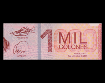 Costa Rica, P-274a, 1000 colones, polymer, 2009
