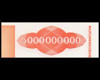 Yugoslavia, P-133, 5.000.000.000 dinara, 1993