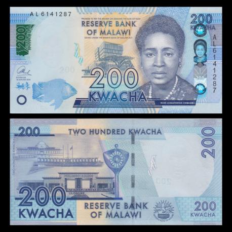 Malawi, P-60c, 200 kwacha, 2016