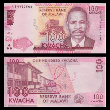 Malawi, P-59c, 100 kwacha, 2014