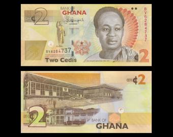 Ghana, p-37Ad, 2 cedis, 2015
