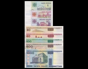 Bielorussie, série de 8 billets différents