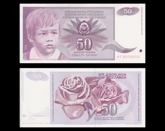 Yugoslavia, P-104, 50 dinara, 1990
