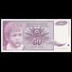 Yougoslavie, P-104, 50 dinara, 1990