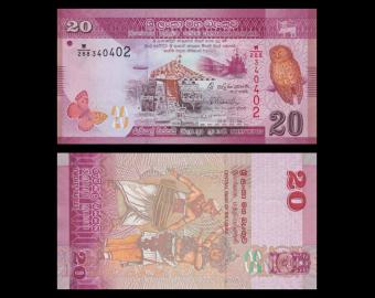 Sri Lanka, p-123b, 20 rupees, 2015