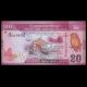 Sri Lanka, p-123c, 20 roupies, 2015