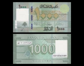 Lebanon, P-90c,1000 livres, 2016