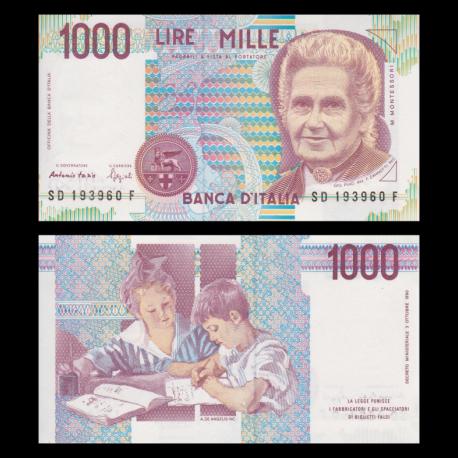 Italie, P-114b, 1000 lire, 1990