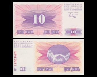 Bosnia and Herzegovina, P-010, 10 dinara, 1992