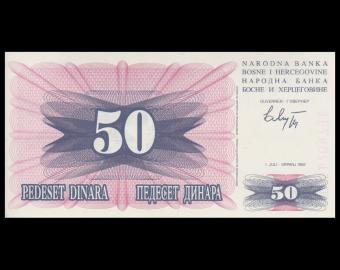 Bosnie-Herzégovine, P-012, 50 dinara, 1992