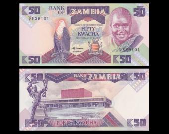 Zambia, P-28, 50 kwacha, 1986