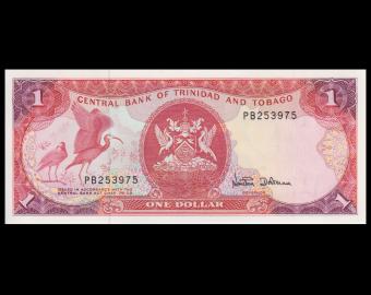Trinidad & Tobago, P-36d, 1 dollar, 1985
