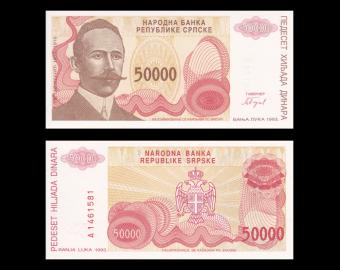 Bosnie-Herzégovine, P-150, 50 000 dinara, 1993